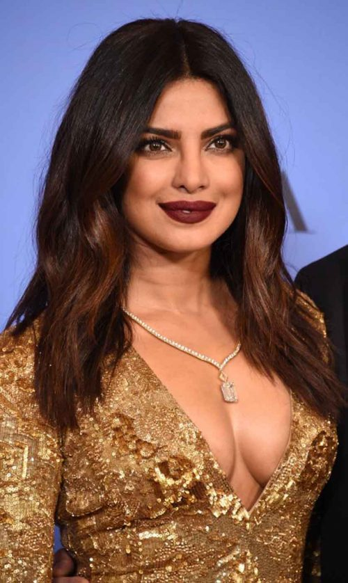 Actress Priyanka Chopra poses in the press room at the 74th annual Golden Globe Awards, January 8, 2017, at the Beverly Hilton Hotel in Beverly Hills, California. / AFP PHOTO / ROBYN BECK